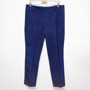 J Crew Blue and White Dot Straight Crop Pants